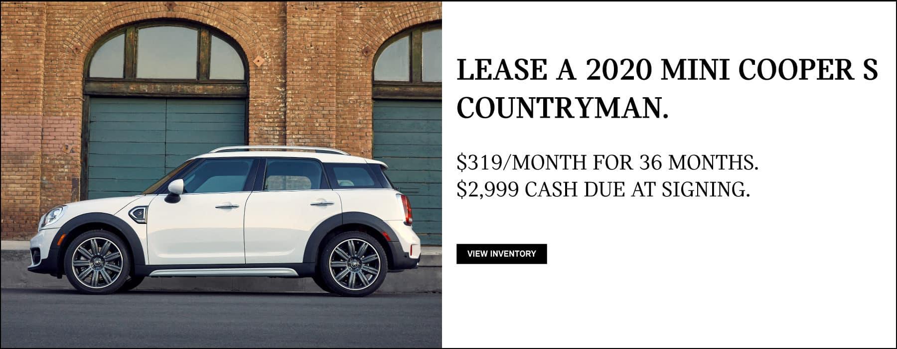 Lease a 2020 MINI Cooper S Countryman for $319/mo