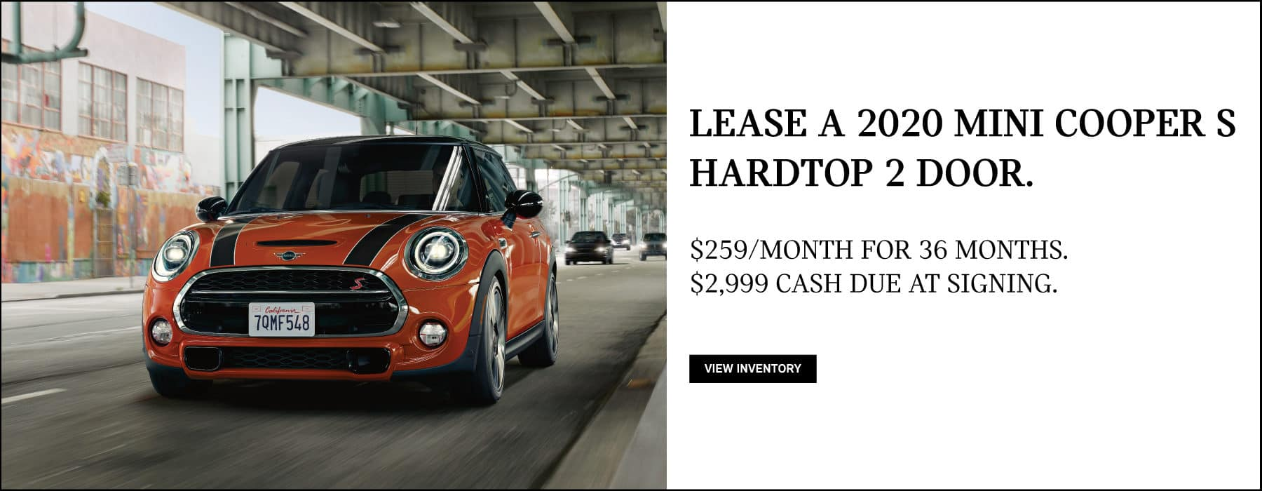 Lease a 2020 MINI Cooper S Hardtop 2 Door for $259/mo. View Inventory