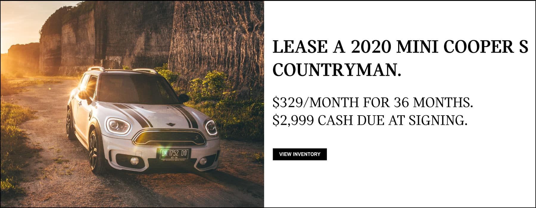 Lease a 2020 MINI Cooper S Countryman for $329/mo. View Inventory