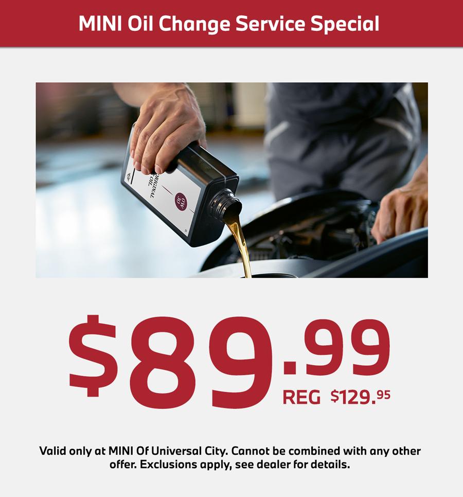 mini oil service special