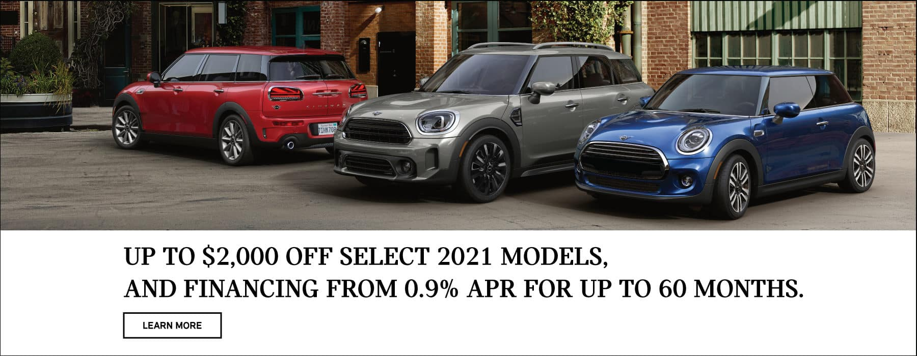 $2,000 off select 2021 models.