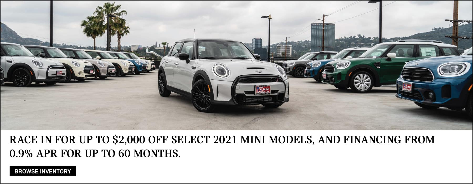 $2,000 of select 2021 MINI models