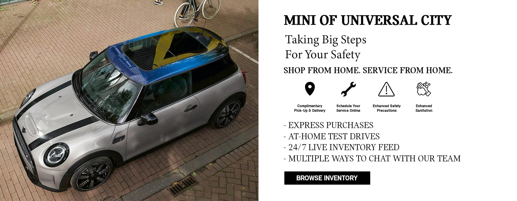 MINI Of Universal City Shop from home
