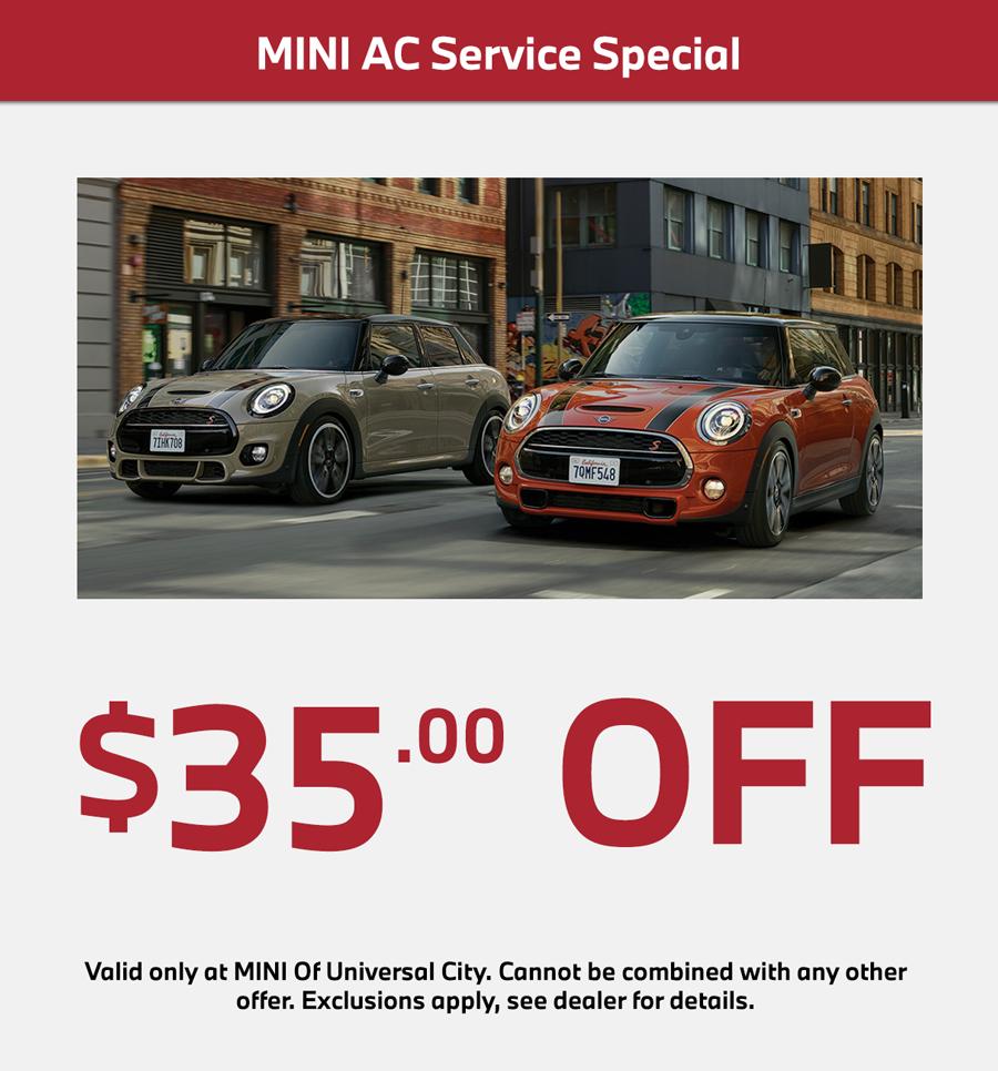 mini cooper ac service special $35 off
