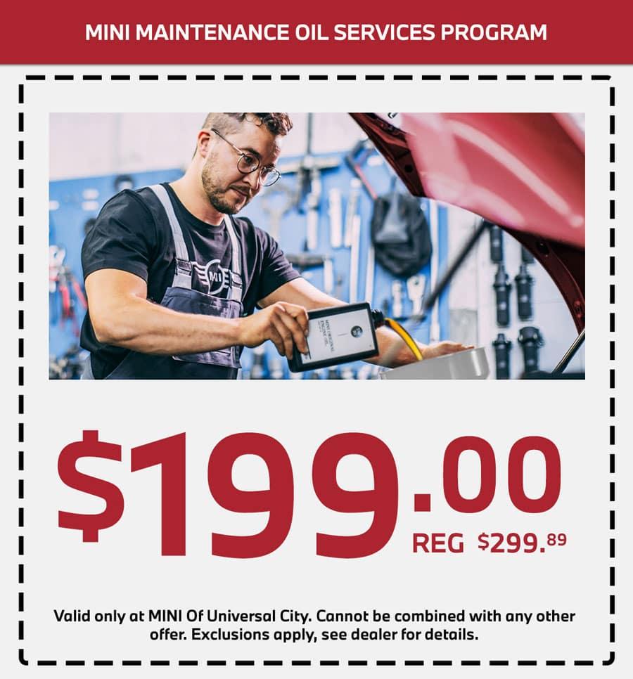 mini oil change service special