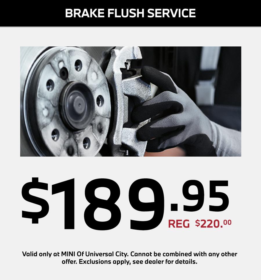 MINI Brake Flush service special in los angeles california