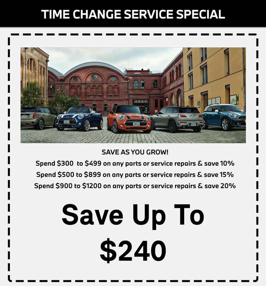 MINI CHANGE OF TIME SERVICE SPECIAL