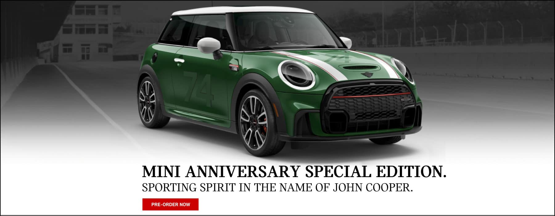 MINI Anniversary Special Edition. Pre-oder yours today!