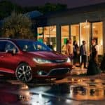 2017 chrysler pacifica parked evening