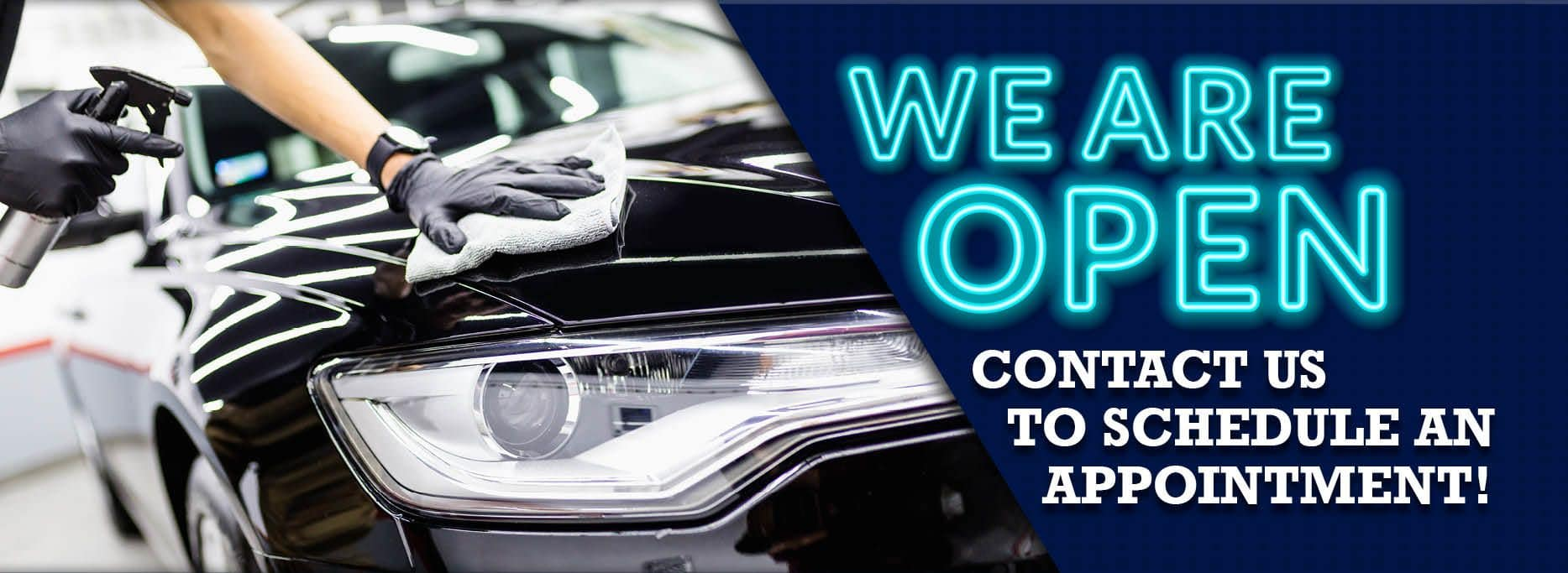 20-Car-We Are Open-blue-banner