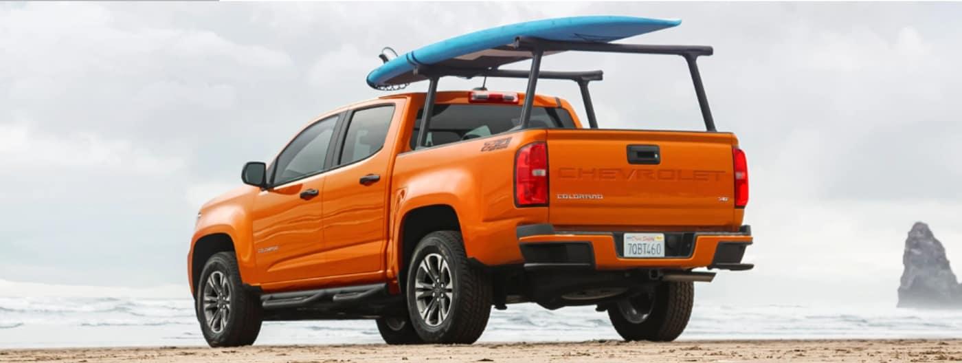 2021 Chevy Colorado on beach