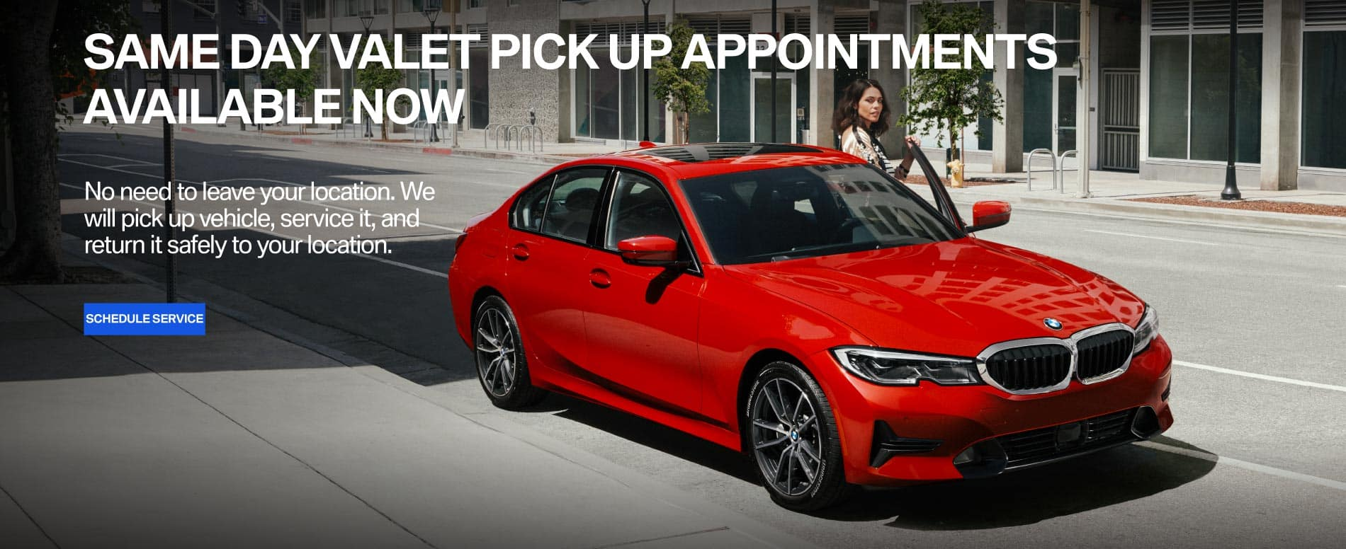 Same day valet pick up appointments available now
