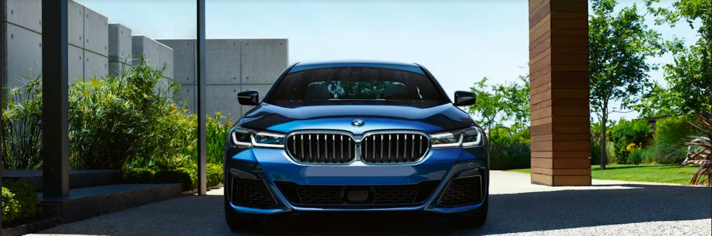 Blue BMW 5 Series