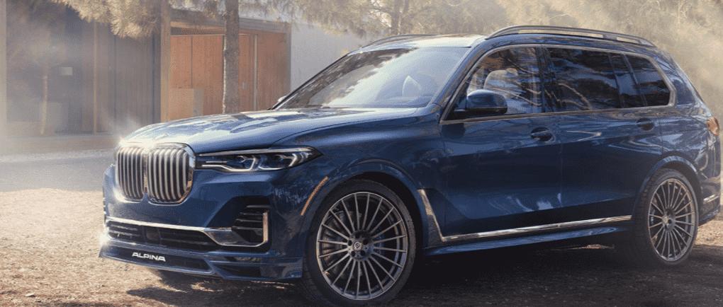 Blue BMW X7