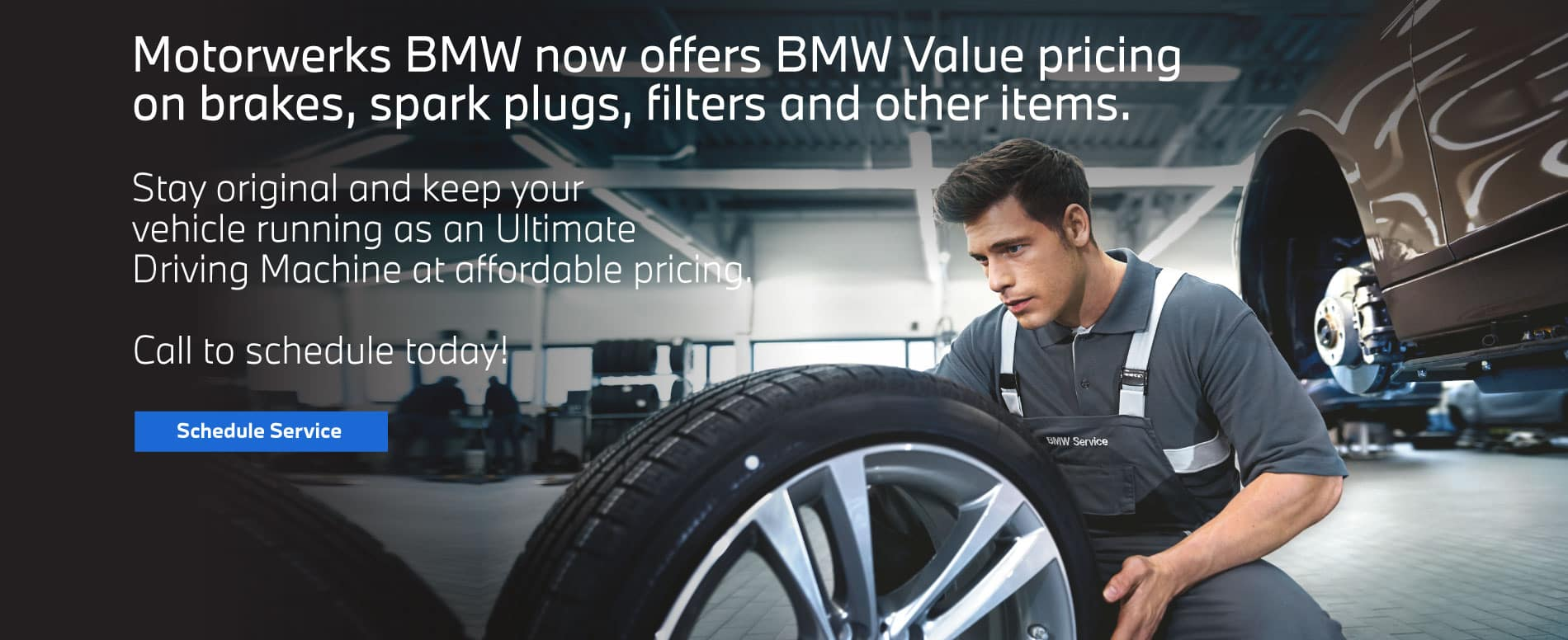 BMW Value pricing on brakes, spark plugs, filters and other items