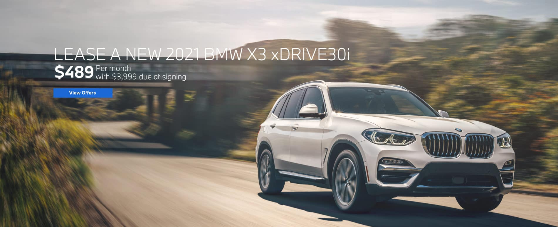 Lease a 2021 X3 xDrive30i for $489 a month   View Inventory
