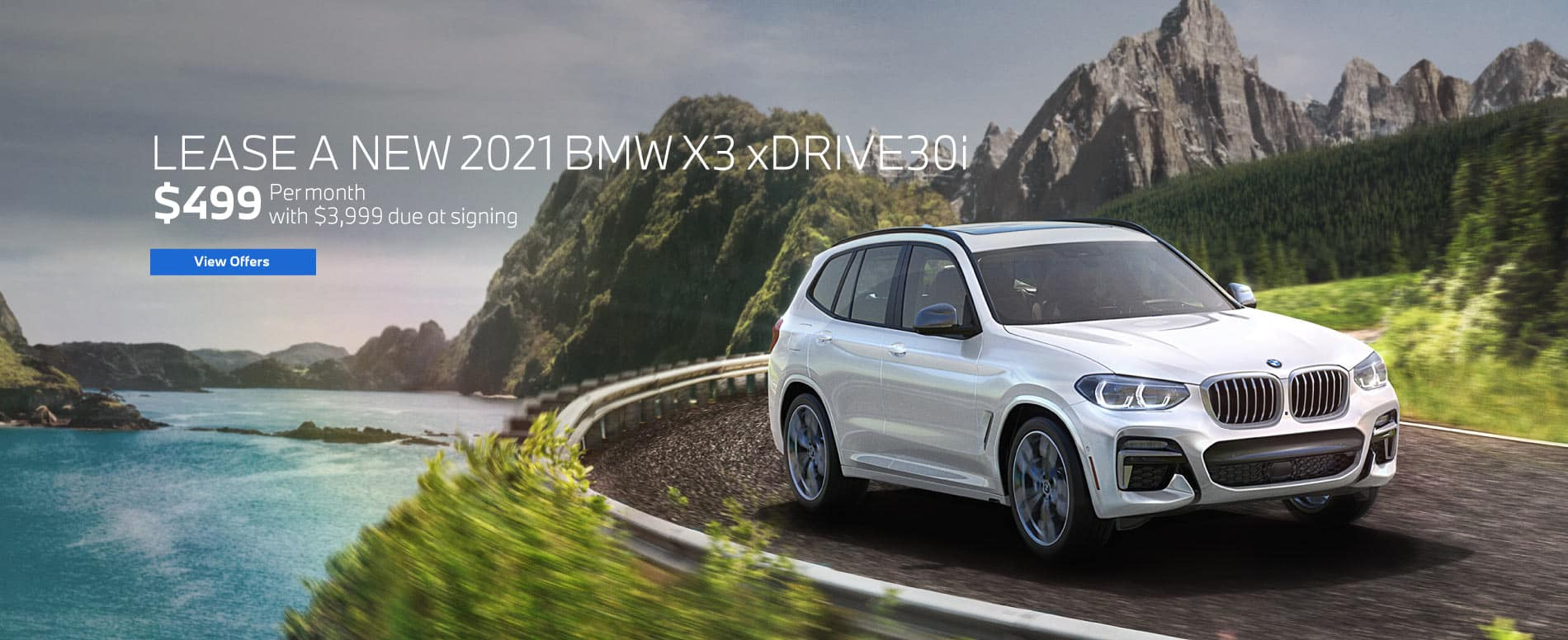 Lease a 2021 X3 xDrive30i for $499 a month | View Inventory