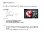 2020 Refresher Drink Recipe