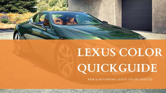 Lexus Color Line Up