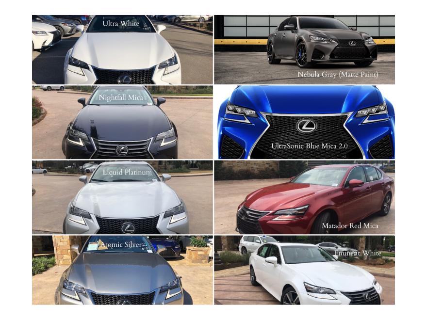 2020 Lexus GS color snapshot