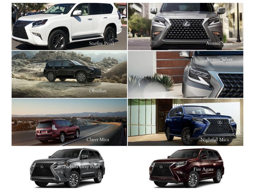 2020 Lexus GX color options
