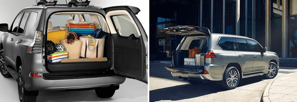 Lexus GX and LX Rear Door Comparison