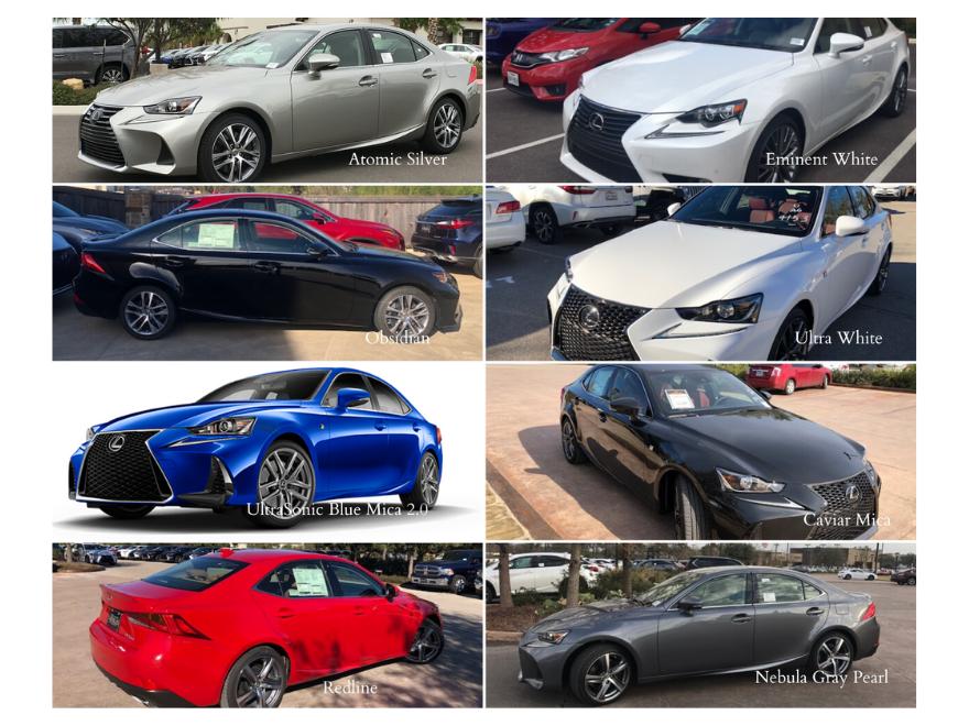 2020 Lexus IS color choices