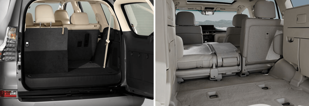 Comparing the Lexus GX and LX third row seating