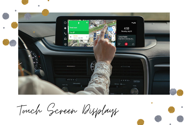 Touchscreen displays in the 2020 Lexus RX