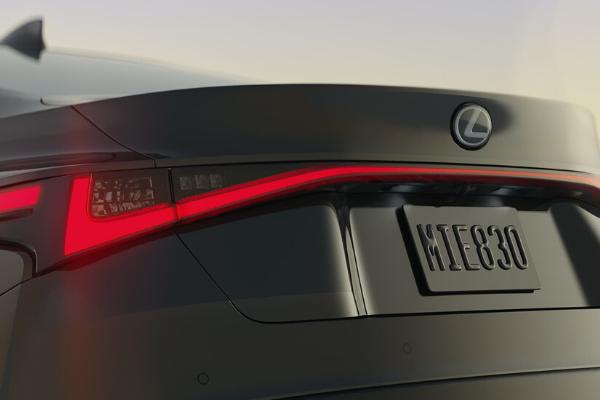Rear Lights on 2021 Lexus IS