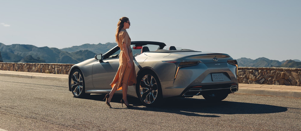 Lexus LC Convertible in Atomic Silver