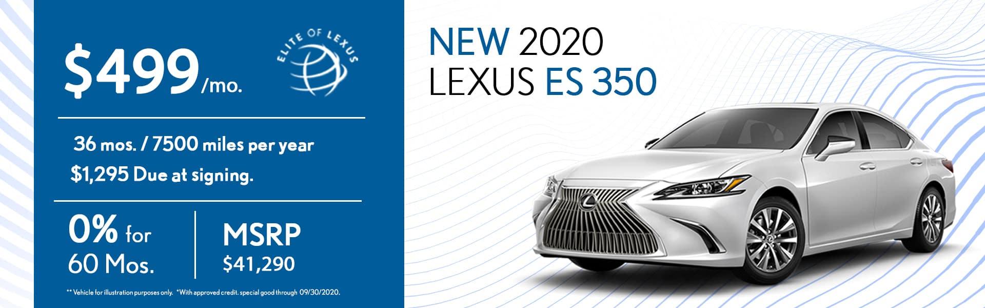 2020 Lexus ES 350 special
