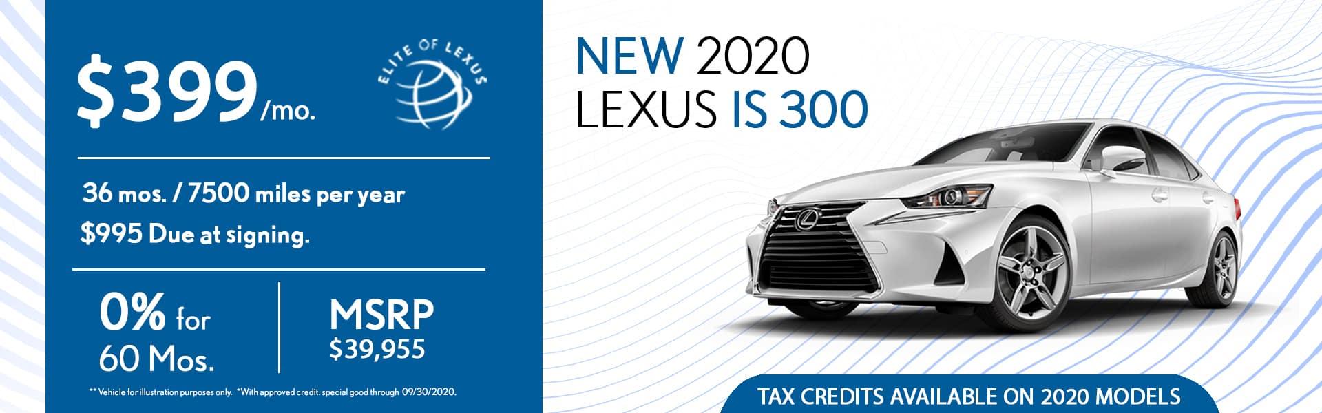 2020 Lexus IS 300 special