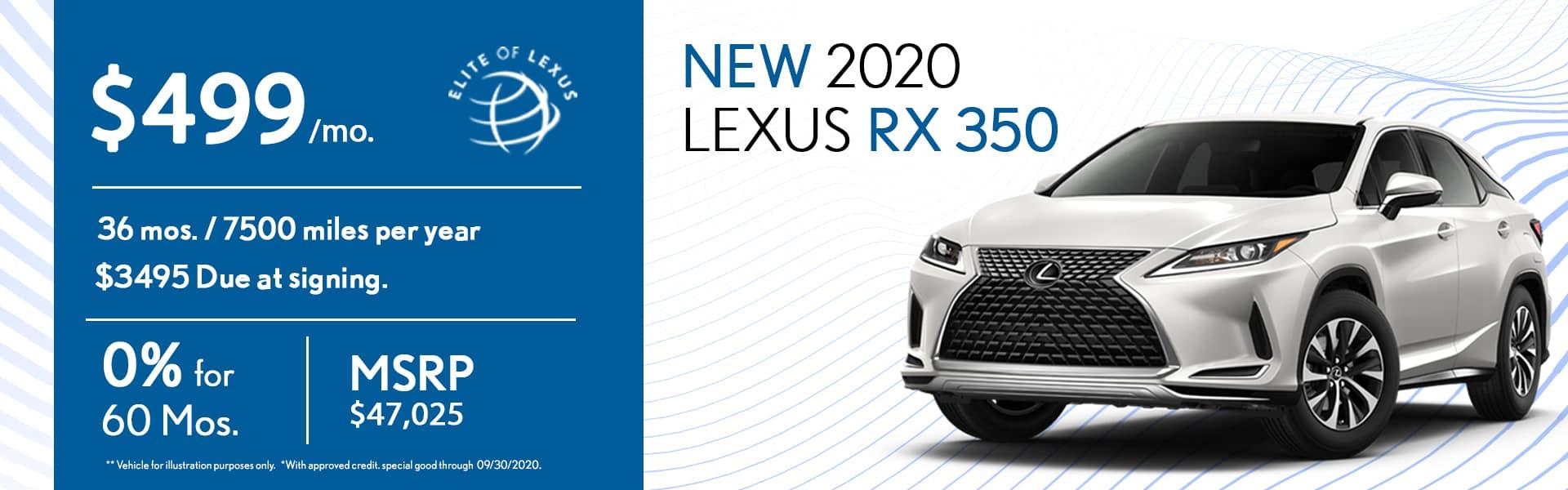 2020 Lexus RX 350 special