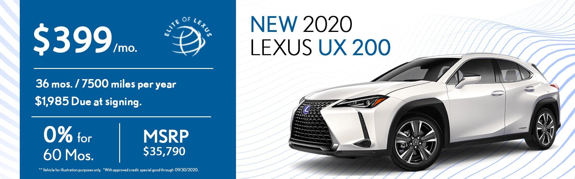 2020 Lexus UX 200 special