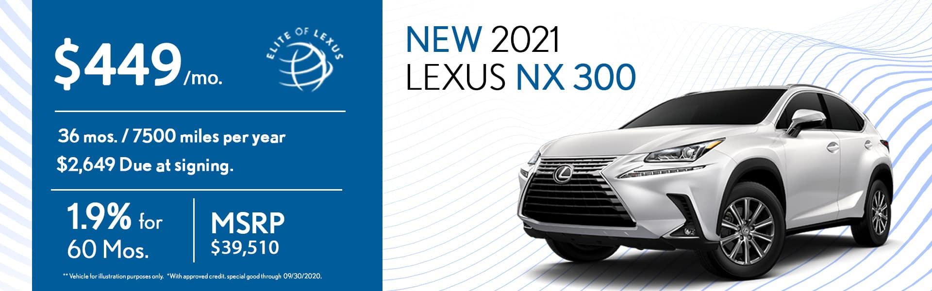 2020 Lexus NX 300 special