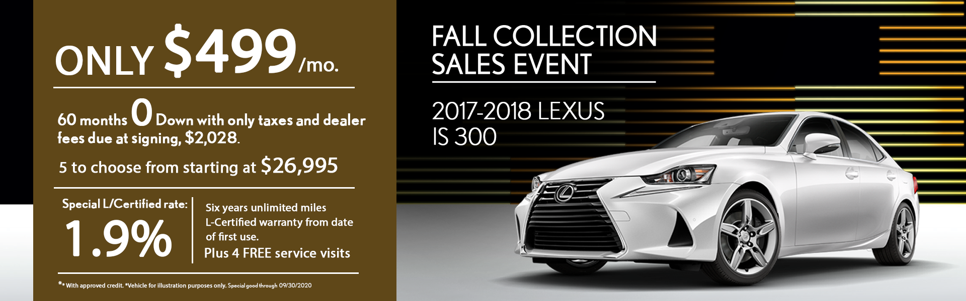 Fall collection Sales event IS 300 2017-2018 special