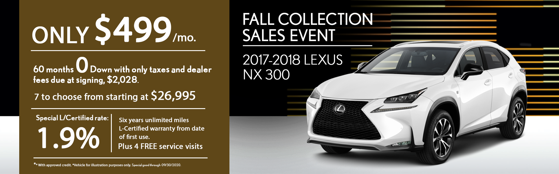 Fall collection Sales event NX 300 2017-2018 special