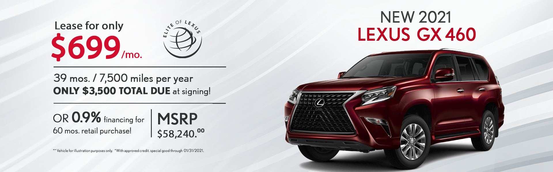 January Lexus Lease Specials GX 460