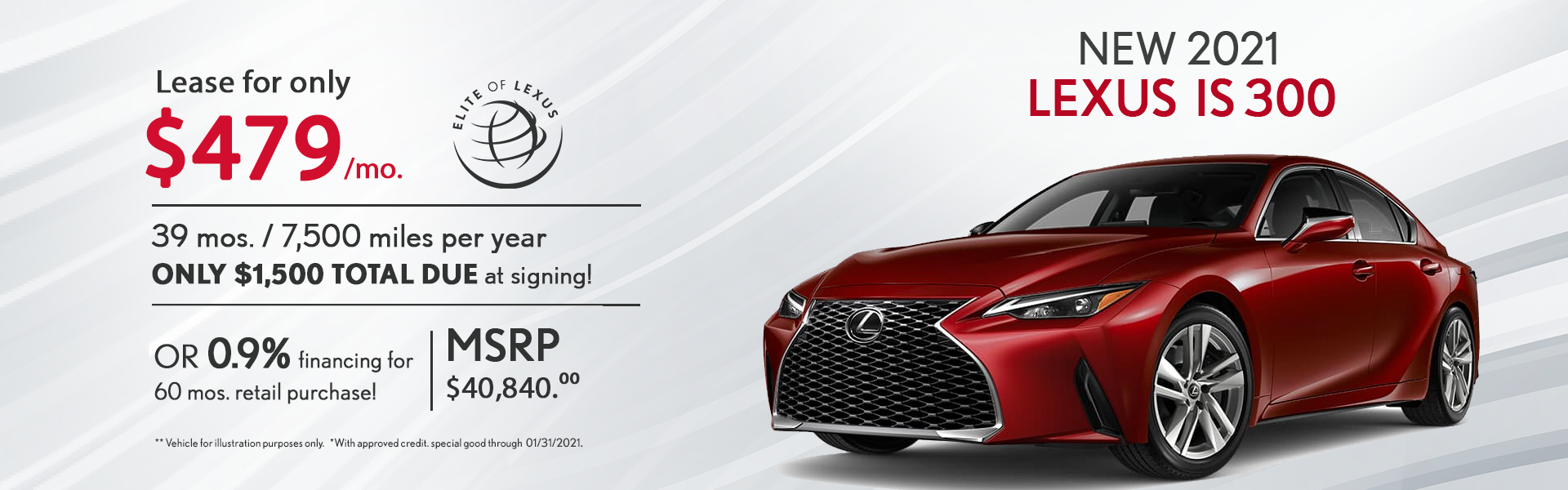 January Lexus Lease Specials IS 300