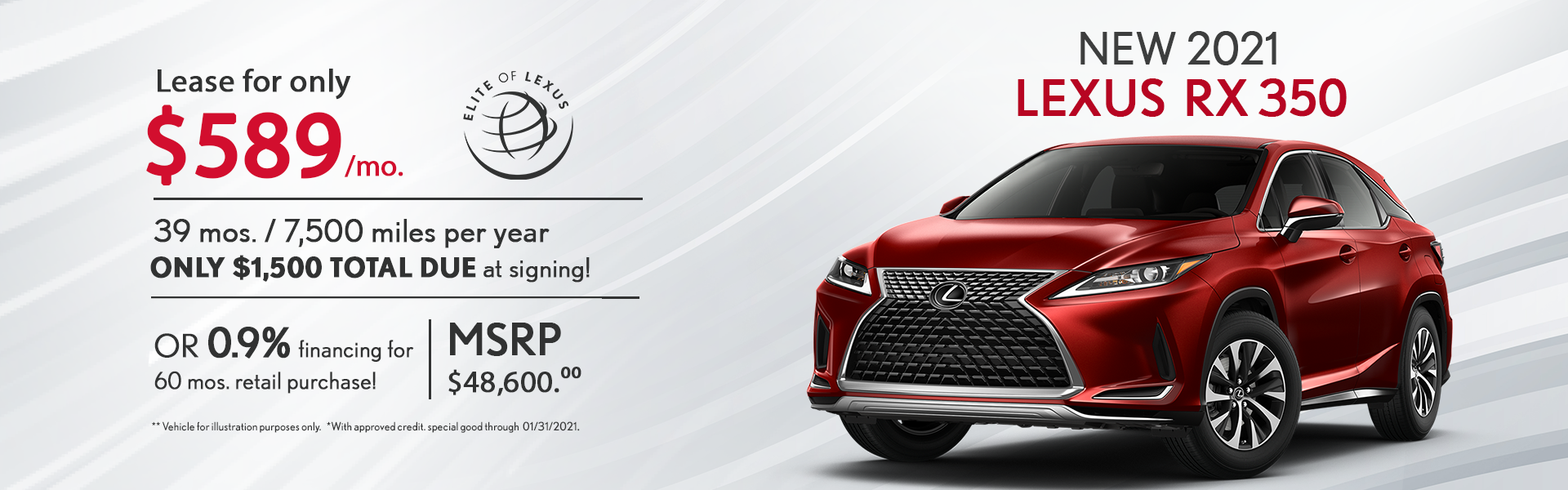 January Lexus Lease Specials RX 350