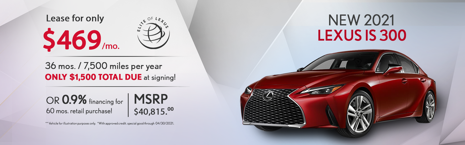Lexus IS 300 Lease Special