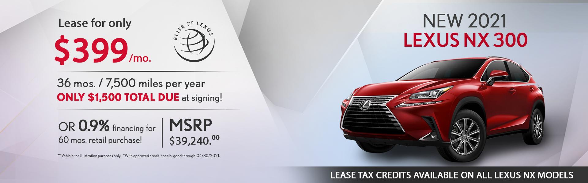 Lexus NX 300 Lease Special