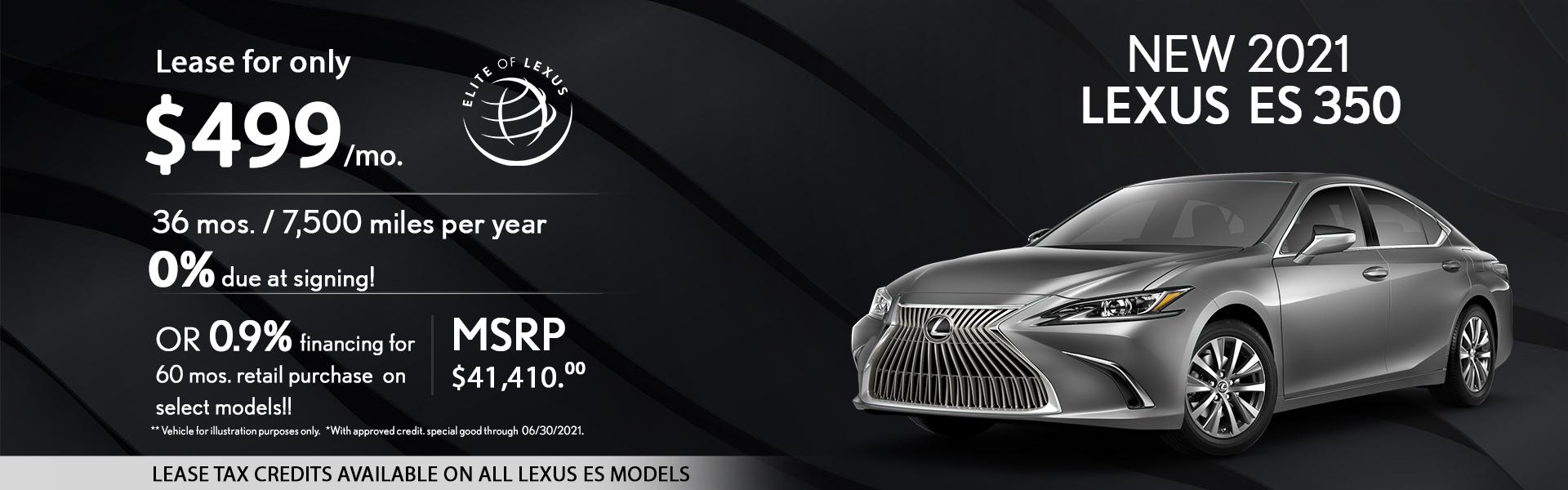 Lexus Es Lease Special