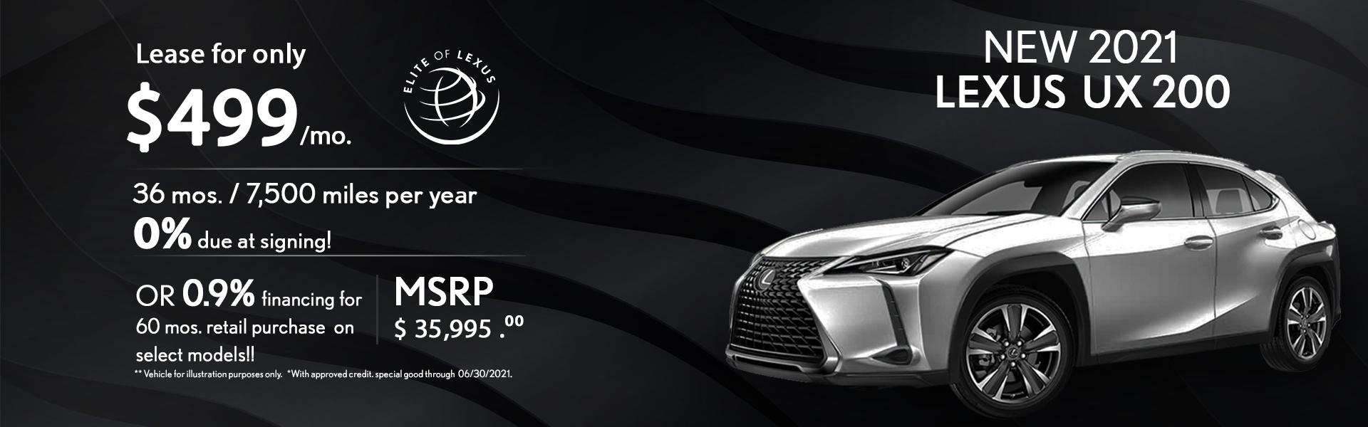 Lexus UX Lease Special