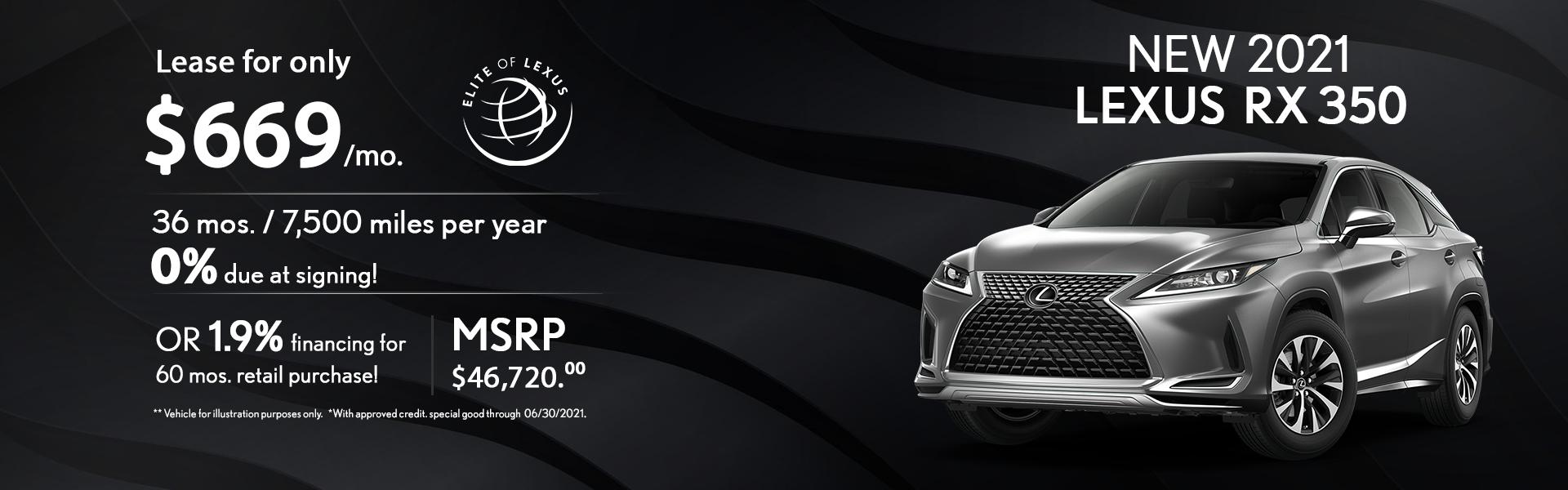 Lexus RX Lease Special