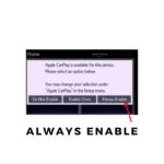 Enable Apple CarPlay