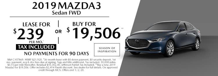 New 2019 Mazda3 FWD