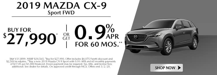 New 2019 Mazda CX-9 Sport FWD