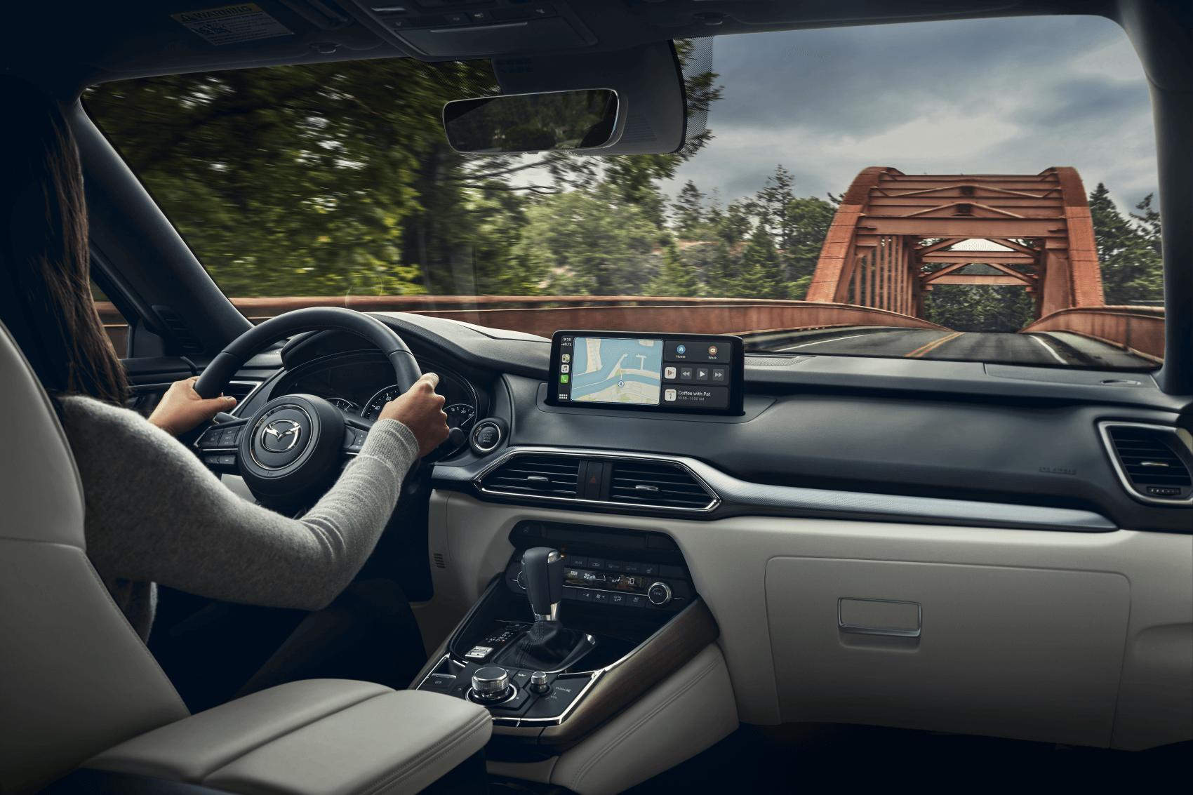 2021 Mazda CX-9 Interior Mazda Connect Dashboard Tech